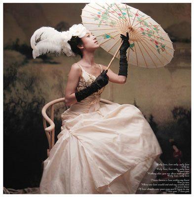 古代带面纱美女手绘图大全