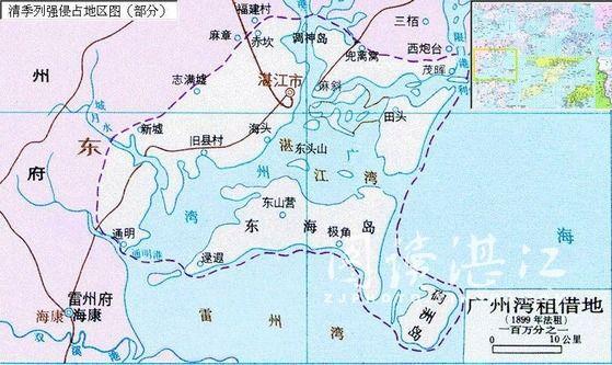 """""""广州湾""""租借地图"""