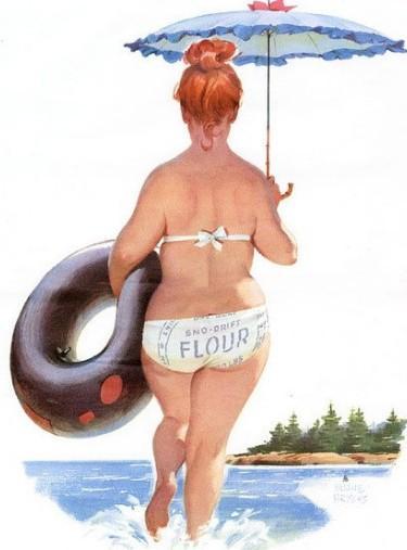 一起来欣赏这个插画中的可爱胖妞吧,说实话,你也不比她差呢!
